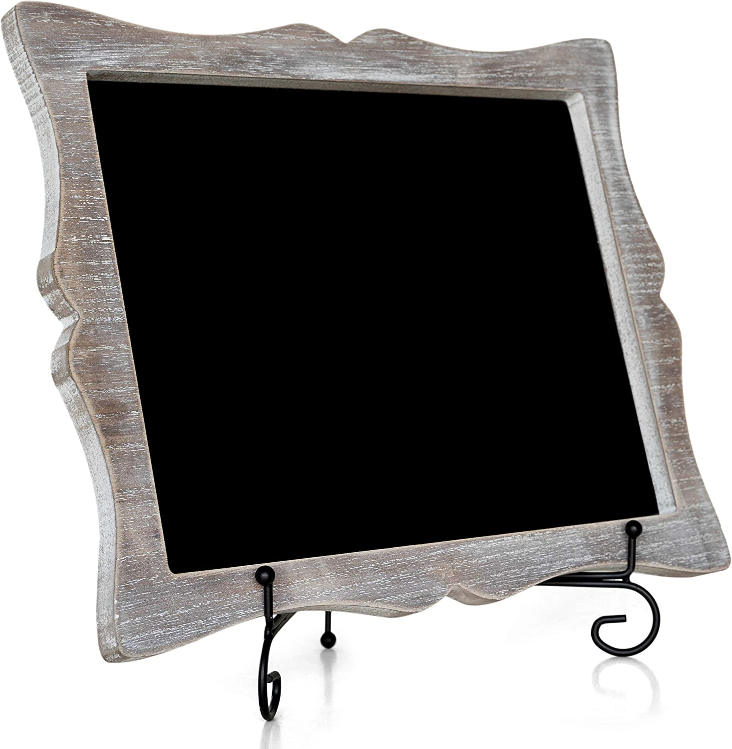 Chalkboard Sign with Easel - Hand Crafted Tabletop Chalkboard for Wedding Signs, Kitchen Decor - Small Chalk Board with Frame (Wooden) - Hanging or ...