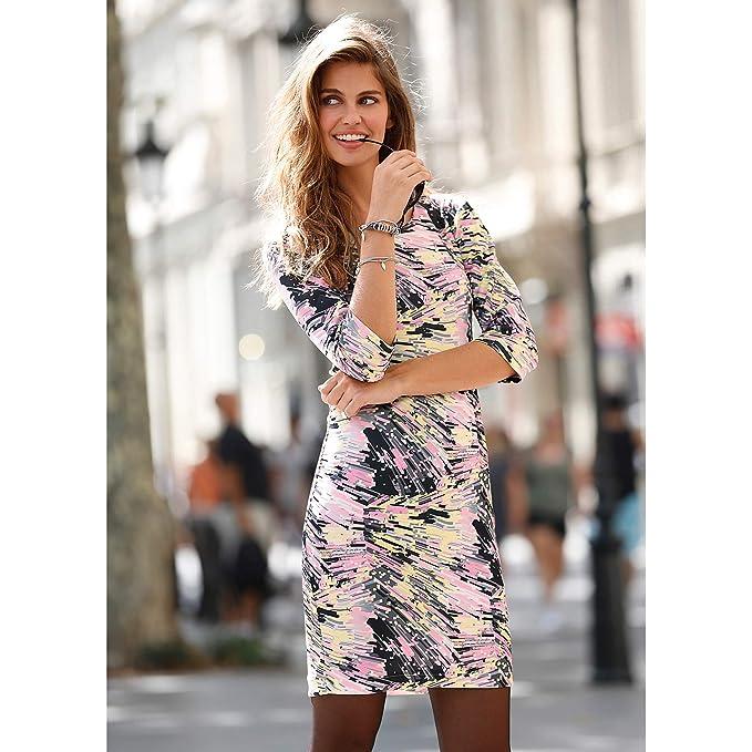 52dea5d09a6 VENCA Vestido Estampado Punto Neopreno Mujer by Vencastyle - 145075,  Estampado, 38: Amazon