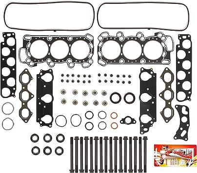 Head Gasket Set Exhaust /& Intake Engine Guides Valves Fits 02-06 DOHC 16v