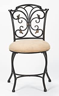 Amazon.com: Vanity Stool with an Oil Rubbed Bronze Finish,holds up ...