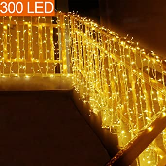 MOVEONSTEP Guirnaldas de Luces 300 LED 33m Guirnalda Luminosa Blanco Cálido 8 Modos Luces de Cadena