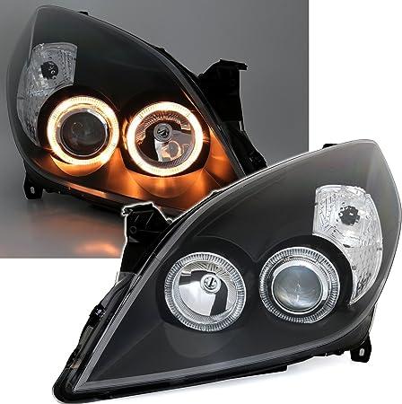 Ad Tuning Gmbh Co Kg 960763 Angel Eyes Scheinwerfer Set Klarglas Schwarz Auto