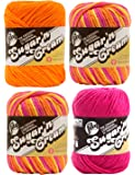 Bulk Buy: Lily Sugar 'n Cream Limited Edition 100% Cotton Yarn (Coordinated 4-Pack) (Playtime, Hot Orange, Hot Pink)