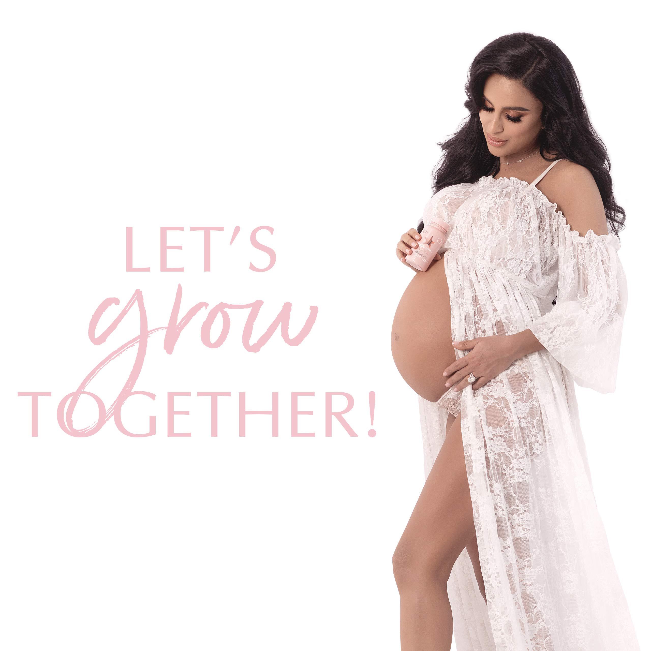 HAIRtamin MOM Vegan Prenatal Vitamins for Women, Natural Multivitamin for Expecting Mothers with Biotin, Probiotics, Vitamin B-6, Iron, Best Post-Natal Vitamin to Promote Healthy Hair & Nails - $29.99 by HAIRtamin (Image #8)