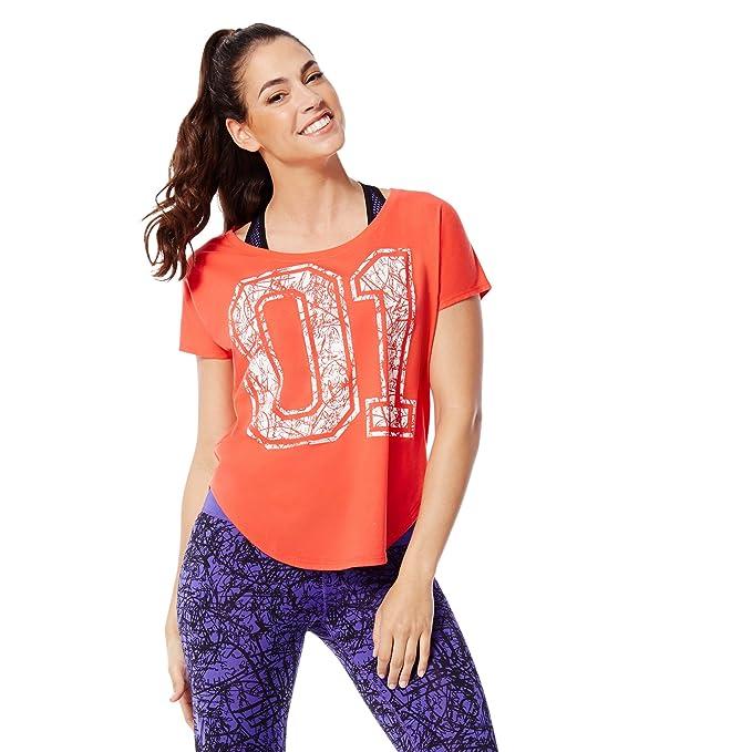 Zumba Camiseta Manga Corta Naranja XL