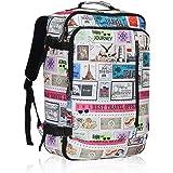 Hynes Eagle Men Backpack 38L Flight Approved Weekender Carry on Backpack Travel Backpack for Women Stamps