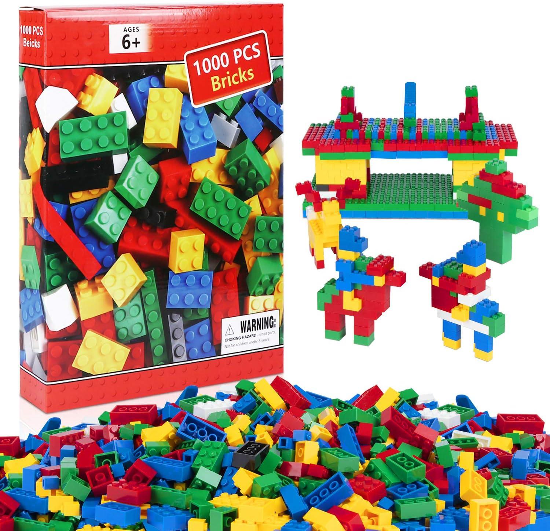 iNeego Bloques de Construcción 1000 Piezas Bloques de Construcción Infantil 3D Juegos de Construcción Ladrillos de Construcción Juguete Colorido Juego para Niños Juguetes Educativos (Set C)