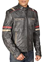 Urbanoutfitters Retro Cafe Racer Moto Biker Vintage Distressed Leather Jacket