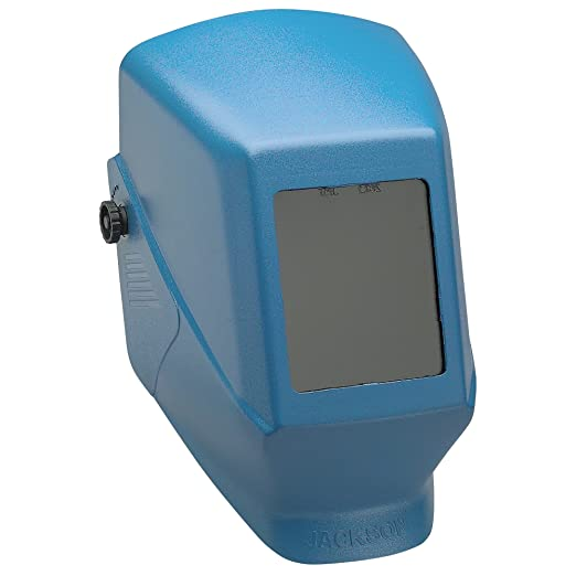 Jackson Safety Fixed Shade W10 HSL 100 Welding Helmet (14976), Blue, 4 Units / Case: Amazon.com: Industrial & Scientific