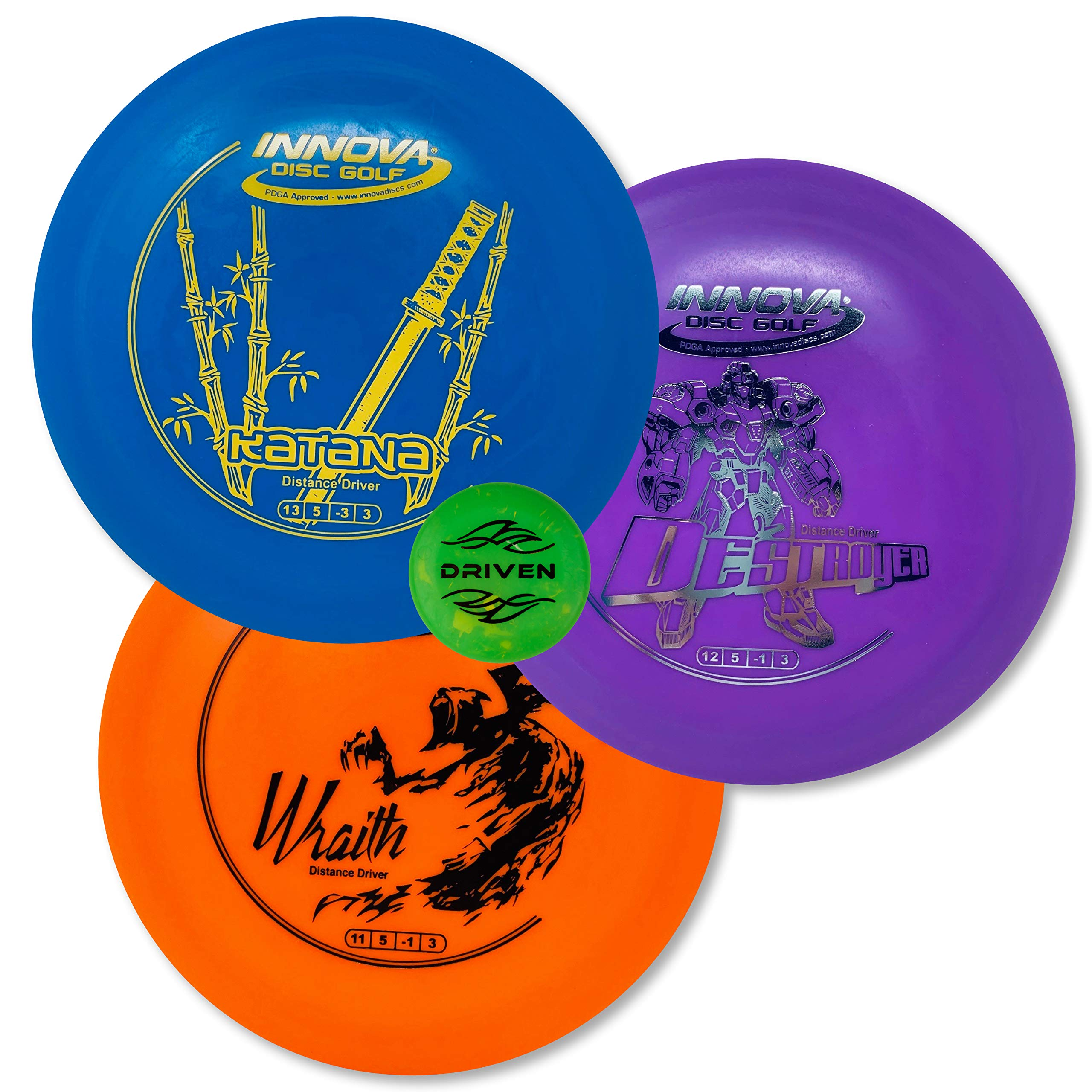 Driven Disc Golf - Advanced Players Pack (3 Disc Driver Set (Colors Vary))