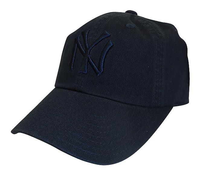 11ef5399c92e3 American Needle MLB New York Yankees Curved Brim Tonal Ballpark Strapback  Cap
