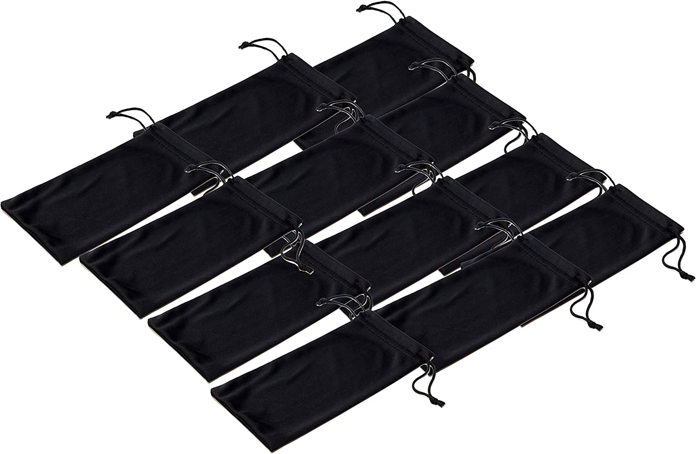 Black Microfiber Pouch Bag...