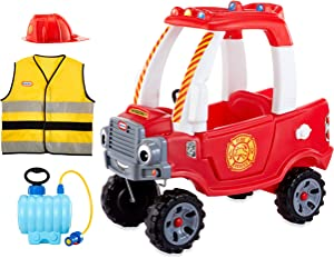 Little Tikes Fire Rescue Cozy Truck Themed Role Play Ride-On Toy, Multicolor