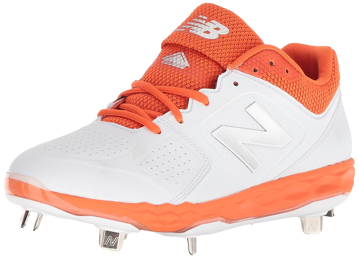 New Balance Women's Velo V1 Metal Softball Shoe B075R79CYM 12 D US|Orange/White
