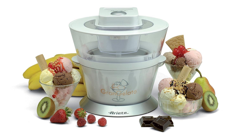 ARIETE 638 Gran Gelato Gelatiera 1 Litro Ice Cream Maker 6W macchina gelato