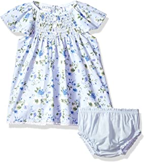 4af2f419404 Mud Pie Baby Girls Floral Smocked Flutter Sleeve Casual Dress with Bloomers