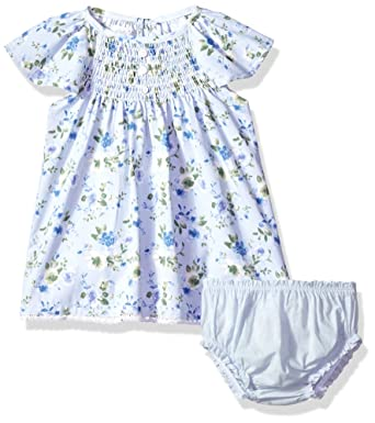f0fce837aca Mud Pie Baby Girls Floral Smocked Flutter Sleeve Casual Dress with  Bloomers
