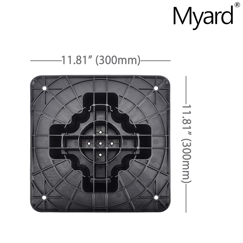 for Wood Composite Floor Frame Pier Shed Base Footing Post Beam Support Myard PNP153544 Deck Foundation Block 2-Pack