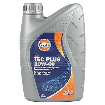 GULF Aceite semisintético para Motor TecPlus 10W-40 10W40-124007GU01-1 L