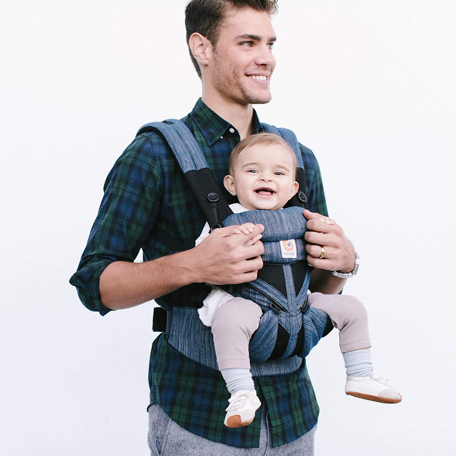 Ergobaby Omni 360 Baby Carrier Cool Air Mesh Raven Blue
