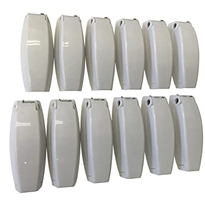 12 PCS. - RV Camper Trailer Baggage Door Clip COMPARTMENTCATCH Holders 888 White: Home Improvement