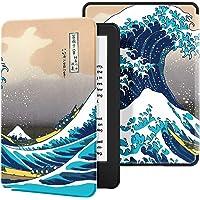 Ayotu Funda de Piel para Nuevo Kindle 10ª generación 2019-Funda Impermeable bellamente Pintada para Despertar/Dormir automáticamente (no Adecuado para los Modelos 2018),Surf en Kanagawa