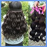 Klemmer Lover? Unprocessed Peruvian Virgin Hair Body Wave 8-30 Inch One Pcs 50g/pc 6A Unprocessed Virgin Peruvian Body Wave Hair,high Quailty Hair Products Cheap Human Hair Extension Human Hair Weave Bundles (18 inch)