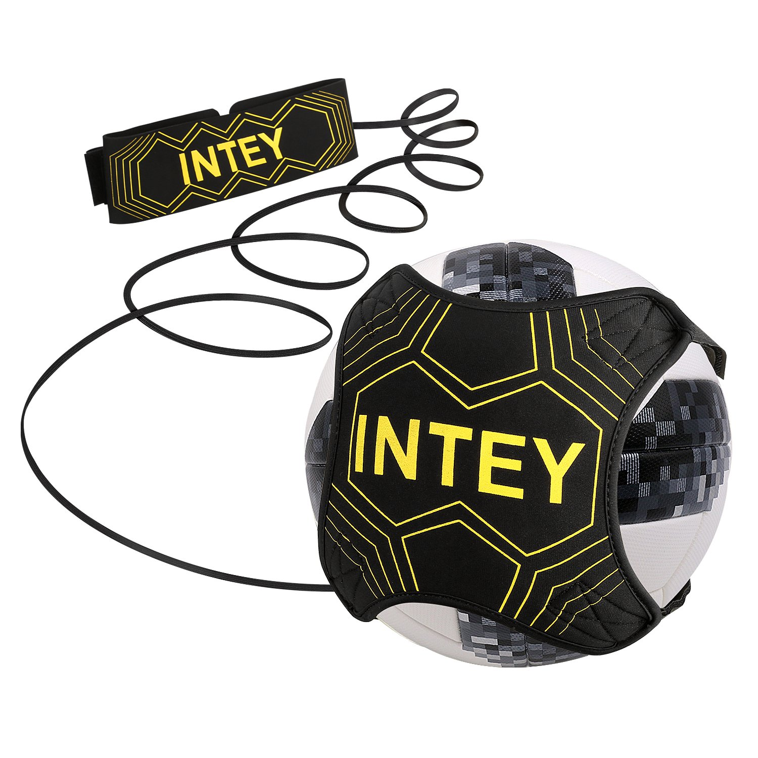 INTEY Fußball Kick Trainer Soccer Trainer with 2 Super Elastisches Bands
