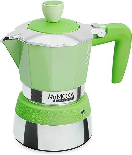Pedrini Cafetera mymoka Induction, 3 tazas, Mojito: Amazon.es: Hogar