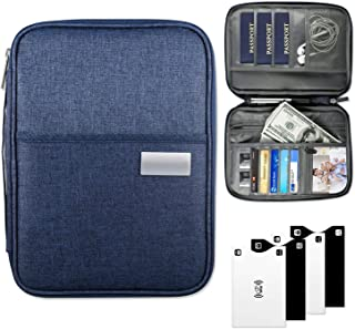 Viaggio Porta Passaporto,Yosemy porta documenti viaggio,Blocco RFID Custodia Protettiva NFC Antistrappo,Scomparti Unisex,5 Pezzi