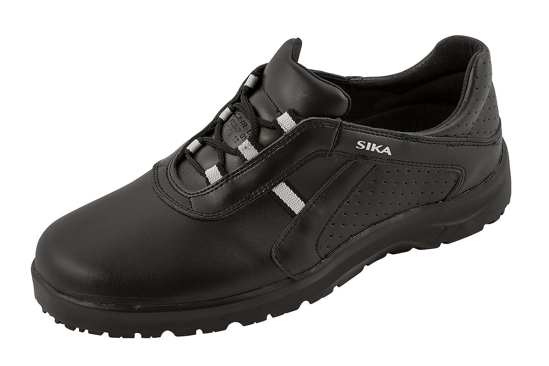 Sika - Chaussures À Lacets En Cuir Pour Femme Noir Noir, Couleur Noire, Taille 44