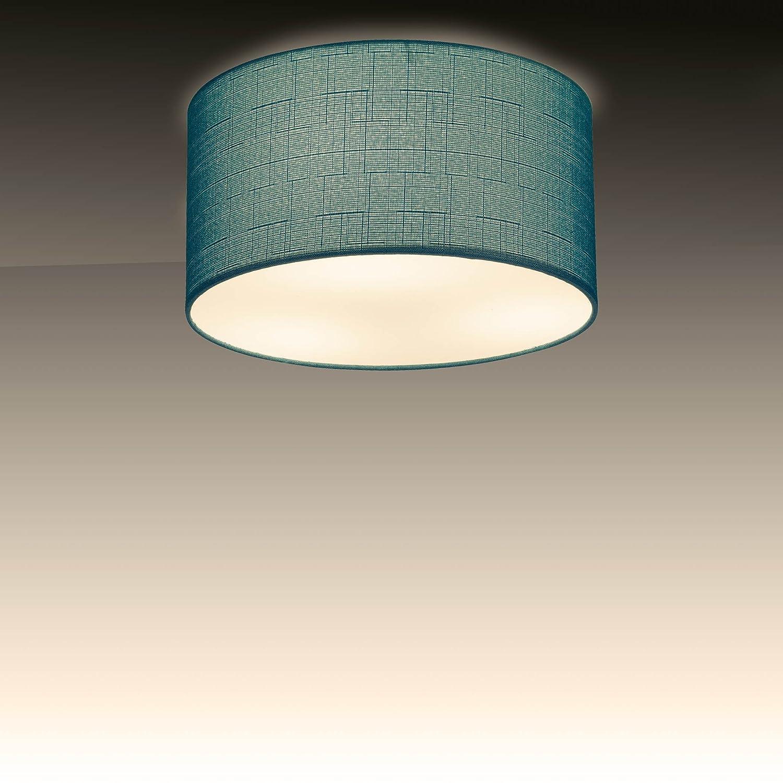 rond Applique avec ampoule LED E27/5/W Blanc Chaud Plafonnier SEBSON Plafonnier Blanc Textile diam/ètre 40/cm