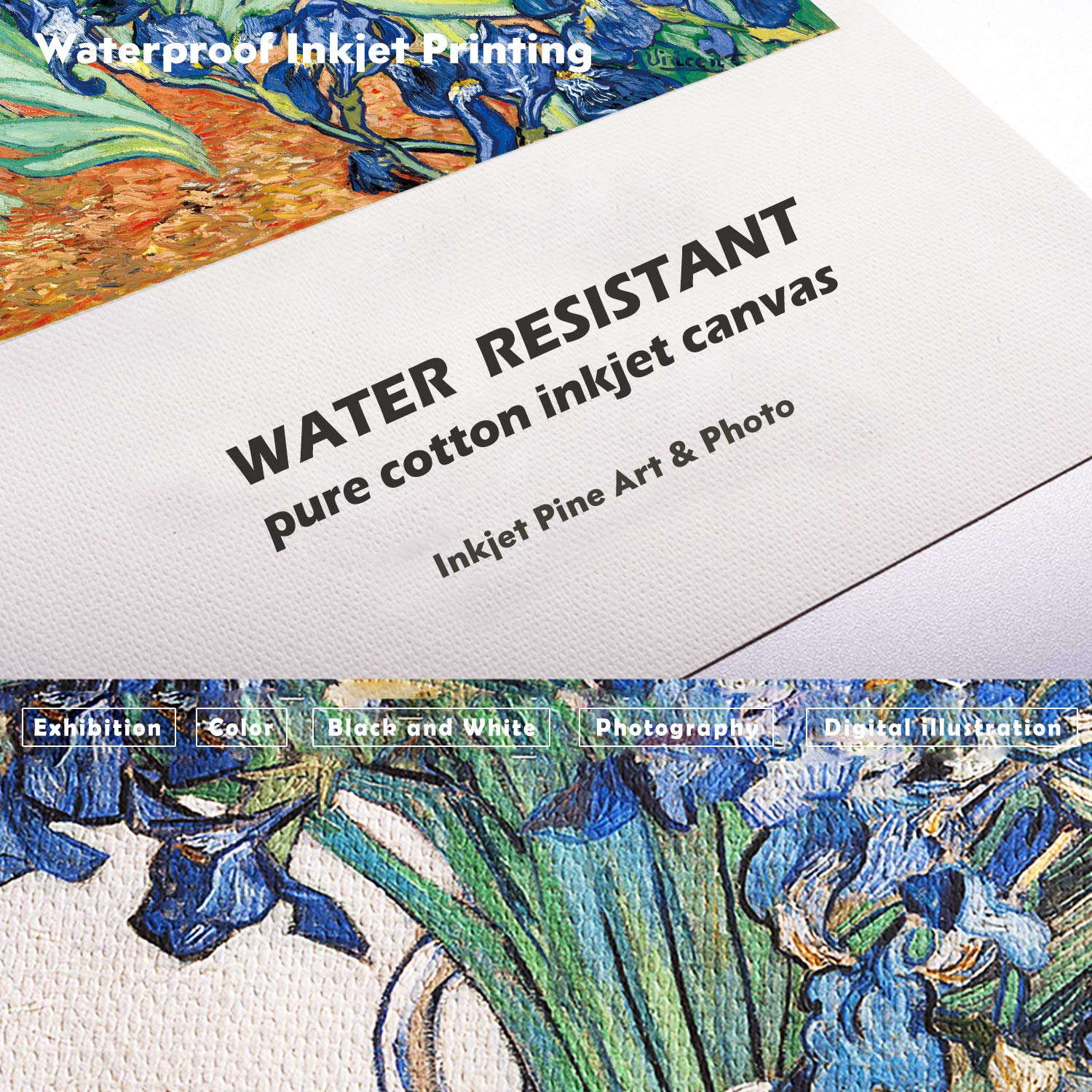 Pack of 1 Water Resistant Pure Cotton Inkjet Canvas 60 x 60