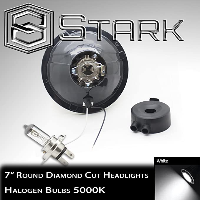 "F H6024 Head Light Glass Housing Lamp Classic Conversion Chrome 7/"" Round PAIR"