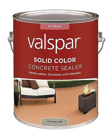Amazon.com: Valspar (82020) Gray Solid Color Concrete Sealer - 1 ...