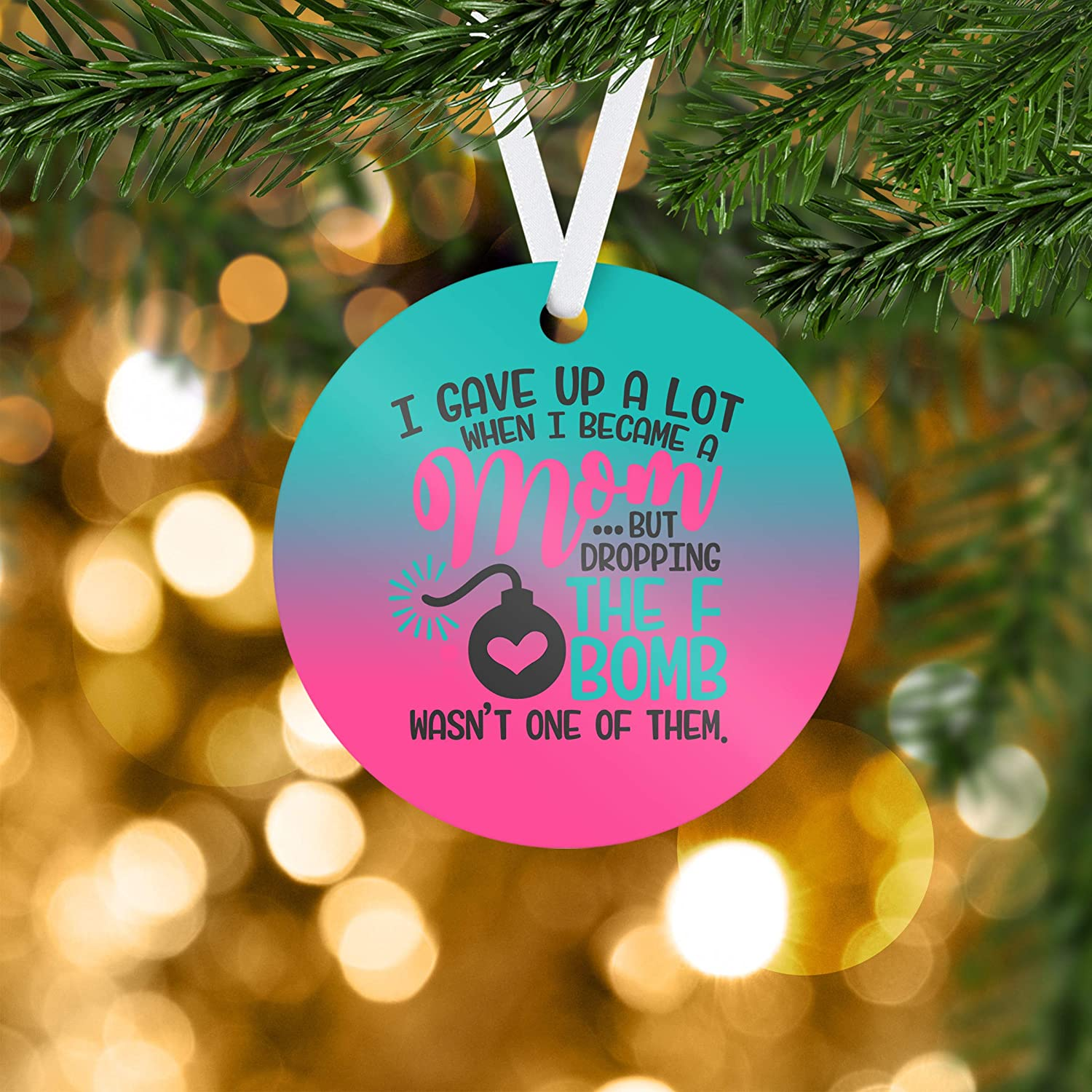 Amazoncom Mom F Bomb Ornament Ornaments Personalized Gift For