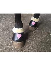 Campanas de Sombrero Clunis® en Negro con Piel y Exclusivo corazón Rosa. Un Accesorio