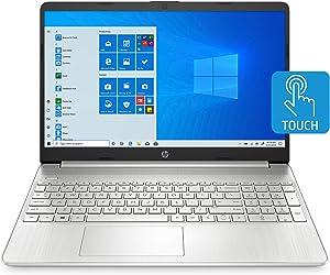 HP 15-inch Touchscreen Laptop, AMD Athlon Gold 3150U, 4 GB RAM, 128 GB SSD, Windows 10 Home in S Mode (15-ef1010nr, Natural Silver)