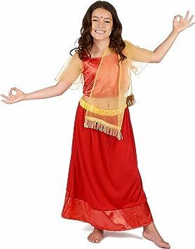 Generique - Disfraz Princesa Bailarina indú Bollywood Mujer 10-12 ...