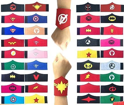 Amazon.com: Pack de 32 pulseras de superhéroes para niños y ...