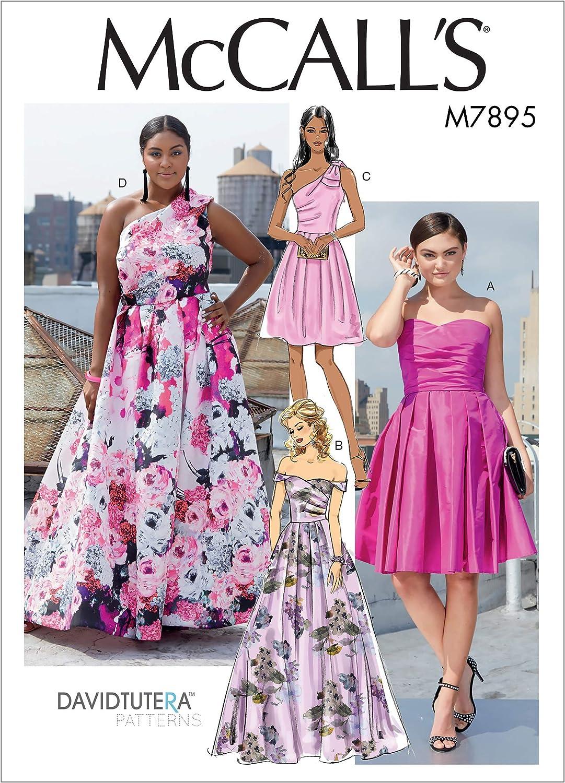 Sizes 6-14 Sewing Pattern McCall Pattern Womens Formal Dress David Tutera