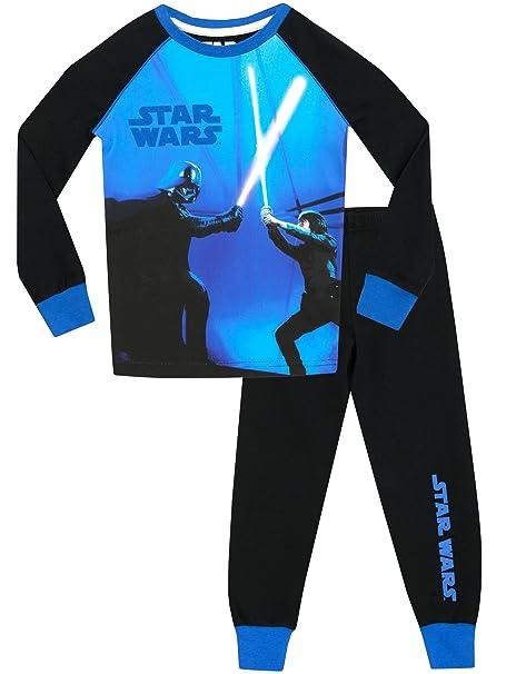 Star Wars - Pijama para Niños - Star Wars Brillan En La Oscuridad - Ajuste Ceñido