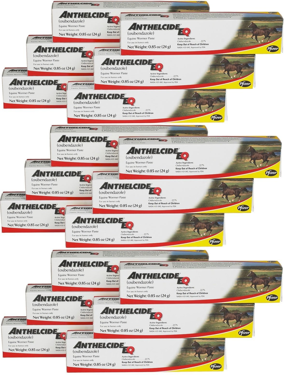 Pfizer Anthelcide EQ Equine Wormer Paste De-Wormer Horse (18 Tubes)