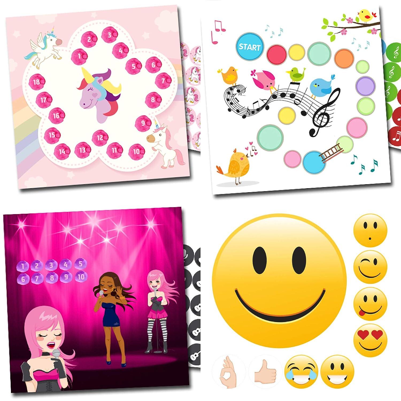 By Diana Belohnung für Mädchen mit hübschen Sets Einhorn, Singvögel, Popstar + Emoji Sehr Gut