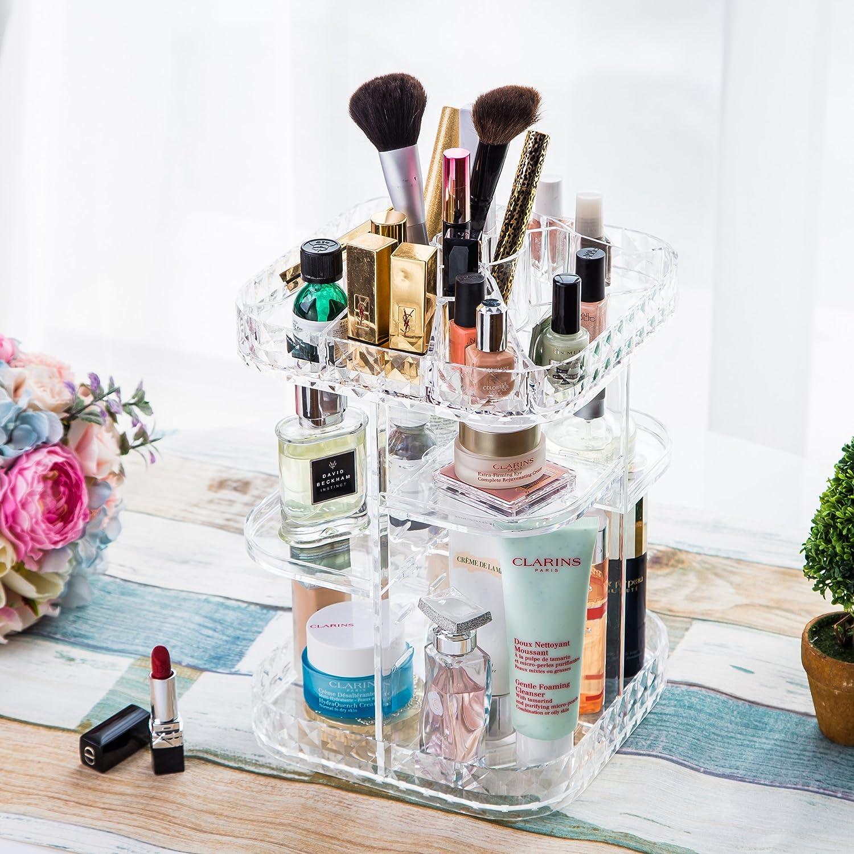 Silver YIVIYAR Organizador de Maquillaje Organizador de Escritorio Cajas Almacenaje Decoraci/ón Jarrones Decorativos Modernos Caja Almacenaje Cajas Decoraci/ón Vintage Organizador Maquillaje