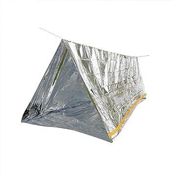 De emergencia rescate tienda de aislamiento térmico aluminio protector de pantalla para 2 personas (tienda 150 x 240) con 7 metros de cuerda: Amazon.es: ...