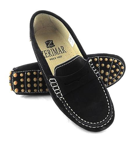 Zerimar Mocasines Para Mujer Estilo Casual Piel Cómodos y Flexibles Color Azul Marino Talla 41: Amazon.es: Zapatos y complementos