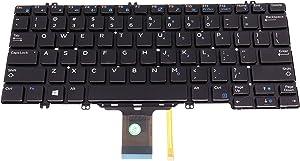 US Backlit Keyboard Frameless (Without Frame) for Dell Latitude E5280 5280 5288 5289 7280 7290 7380 DPN 0346TJ 00NPN8