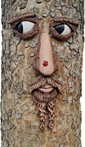 Tree Faces Decor Outdoor - 12 x 24 Inches Mounting Area Big Size Tree Hugger Yard Art Garden Statue Tree Peeker Decoration Sculpture