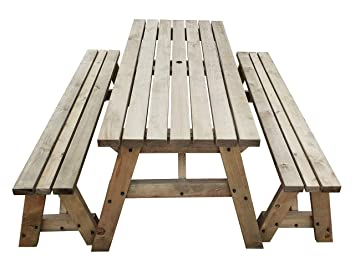 Prime Victoria Picnic Table And Bench Set Heavy Duty Handmade Outdoor Furniture In Uk Pressure Treated Rustic Brown 7Ft Gamerscity Chair Design For Home Gamerscityorg